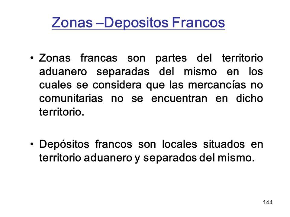 Zonas –Depositos Francos