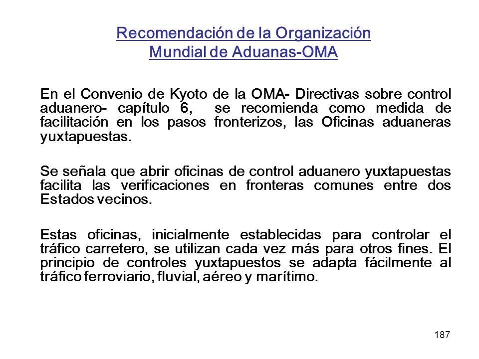 Recomendación de la Organización Mundial de Aduanas-OMA
