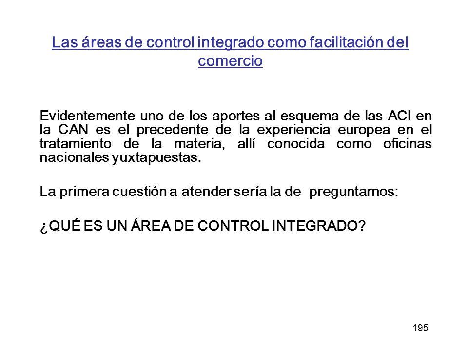 Las áreas de control integrado como facilitación del comercio