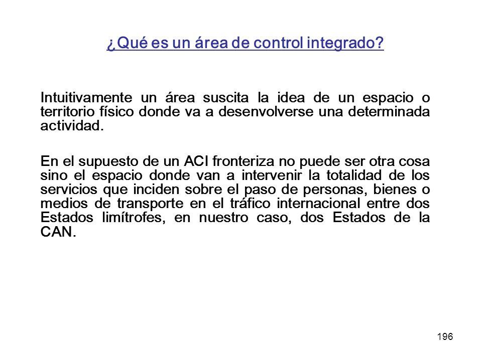 ¿Qué es un área de control integrado