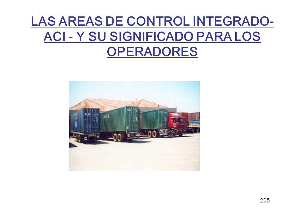 LAS AREAS DE CONTROL INTEGRADO- ACI - Y SU SIGNIFICADO PARA LOS OPERADORES