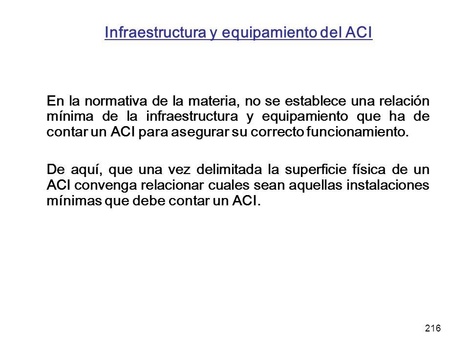 Infraestructura y equipamiento del ACI