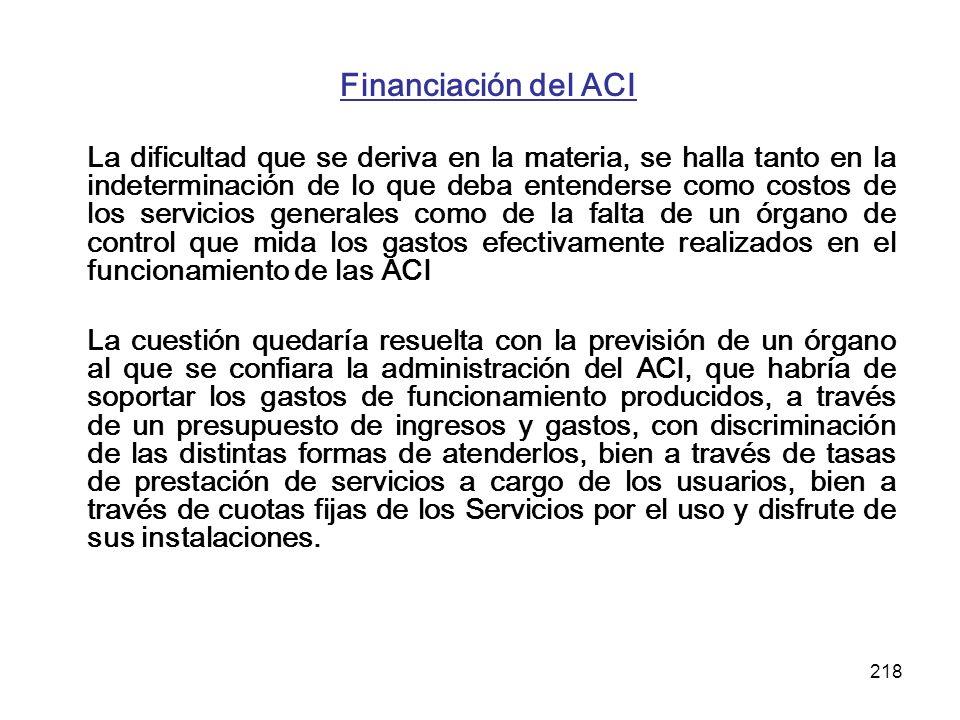 Financiación del ACI