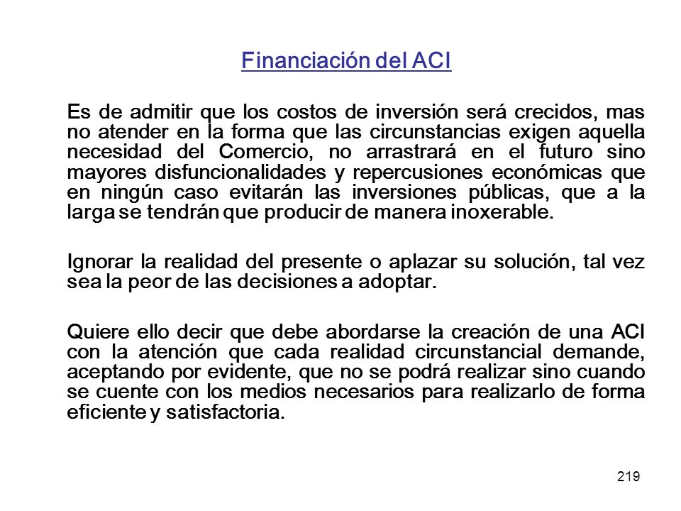 Financiación del ACI