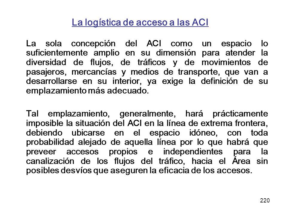 La logística de acceso a las ACI