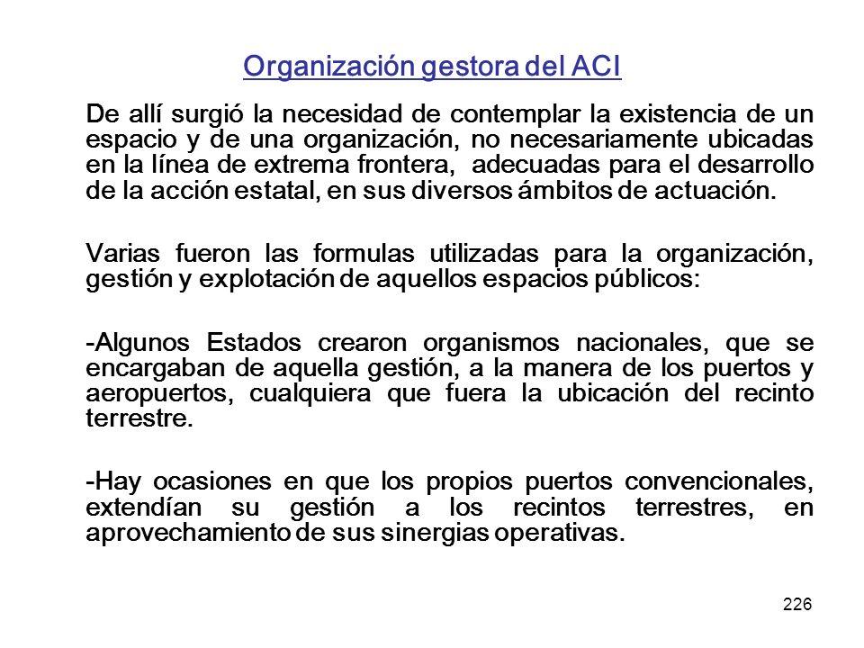 Organización gestora del ACI
