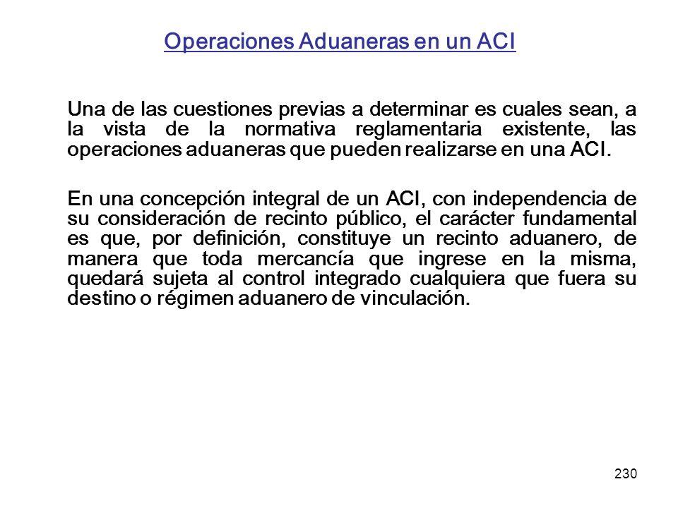 Operaciones Aduaneras en un ACI