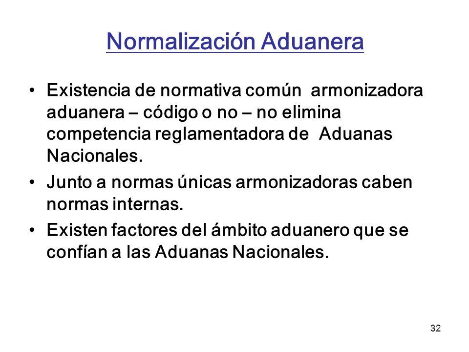 Normalización Aduanera