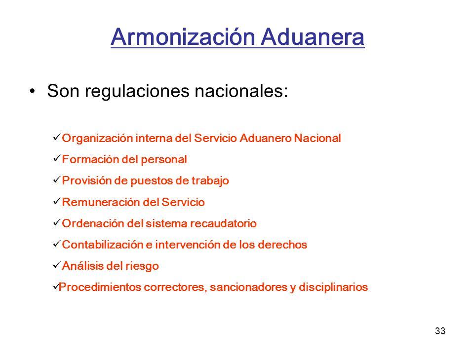 Armonización Aduanera