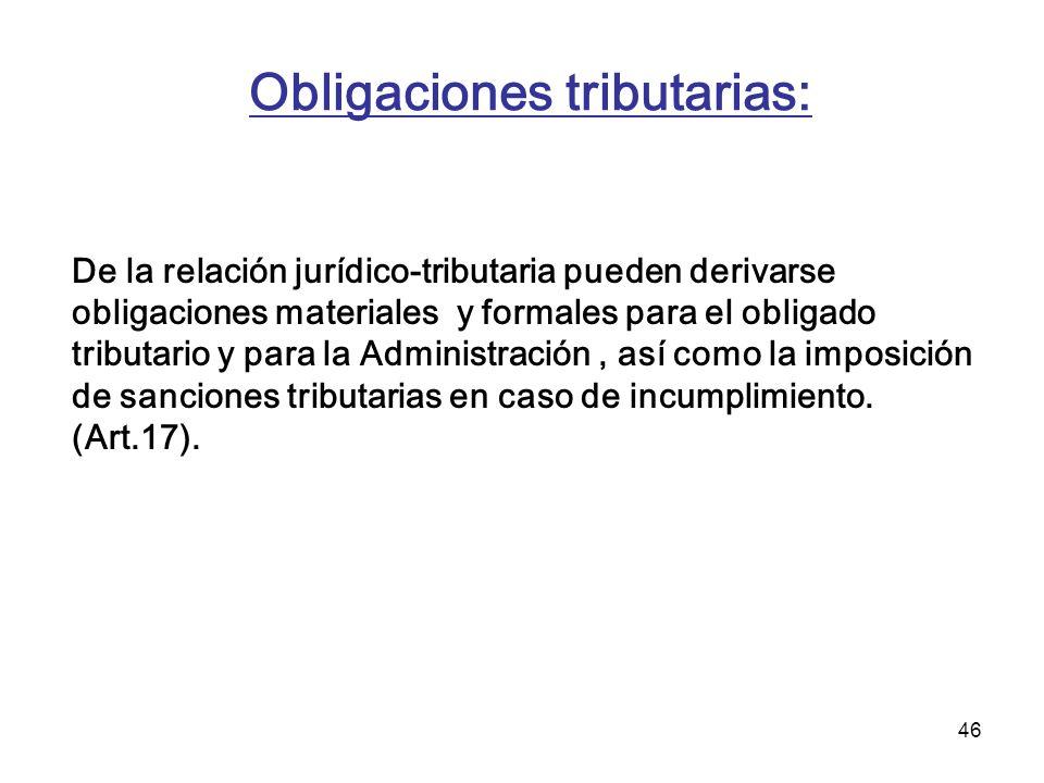 Obligaciones tributarias: