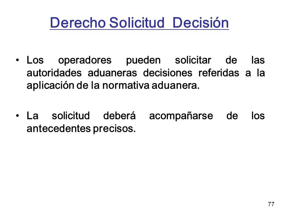 Derecho Solicitud Decisión