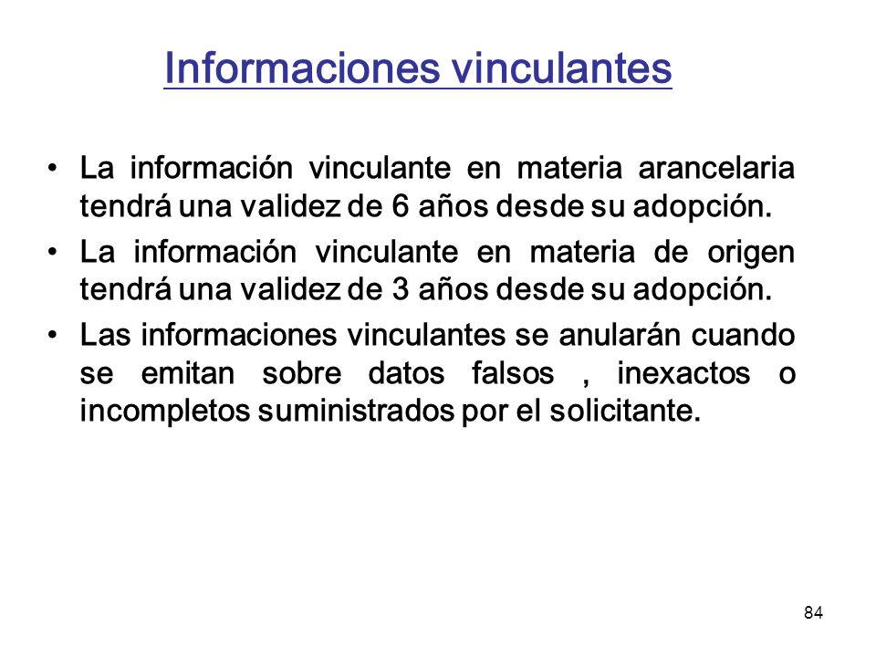 Informaciones vinculantes