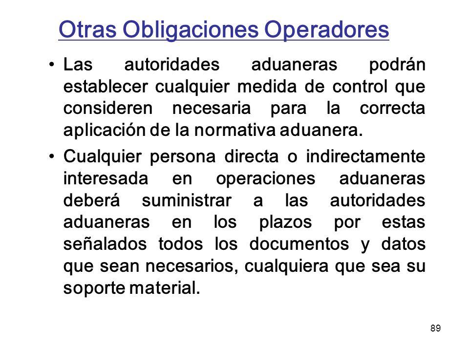 Otras Obligaciones Operadores
