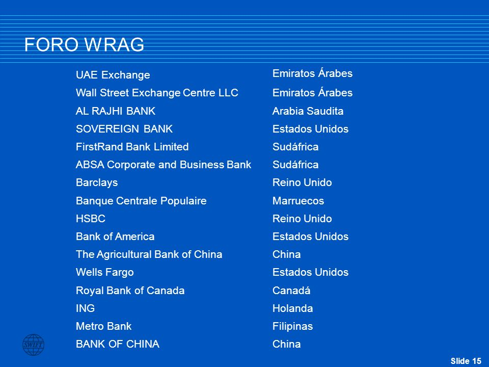 FORO WRAG UAE Exchange Emiratos Árabes Wall Street Exchange Centre LLC