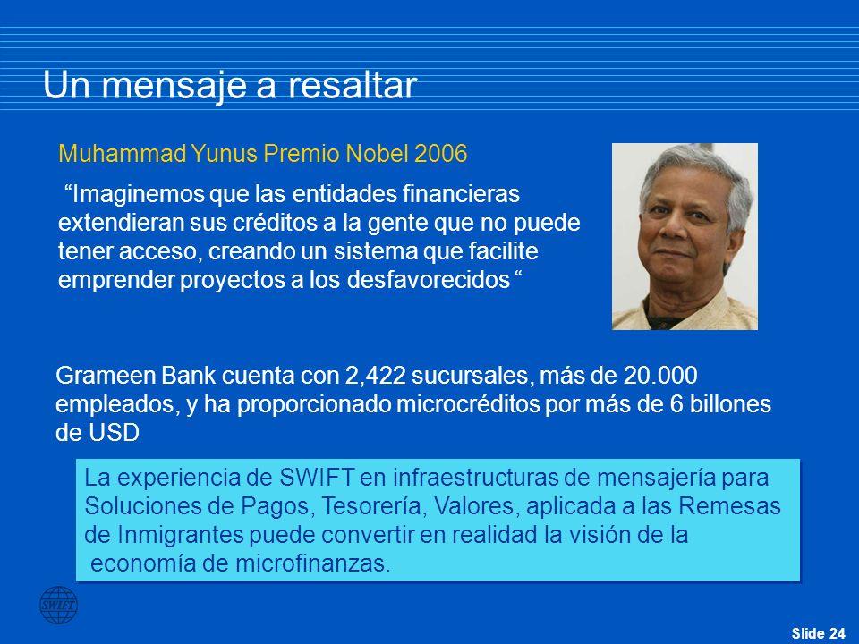 Un mensaje a resaltar Muhammad Yunus Premio Nobel 2006