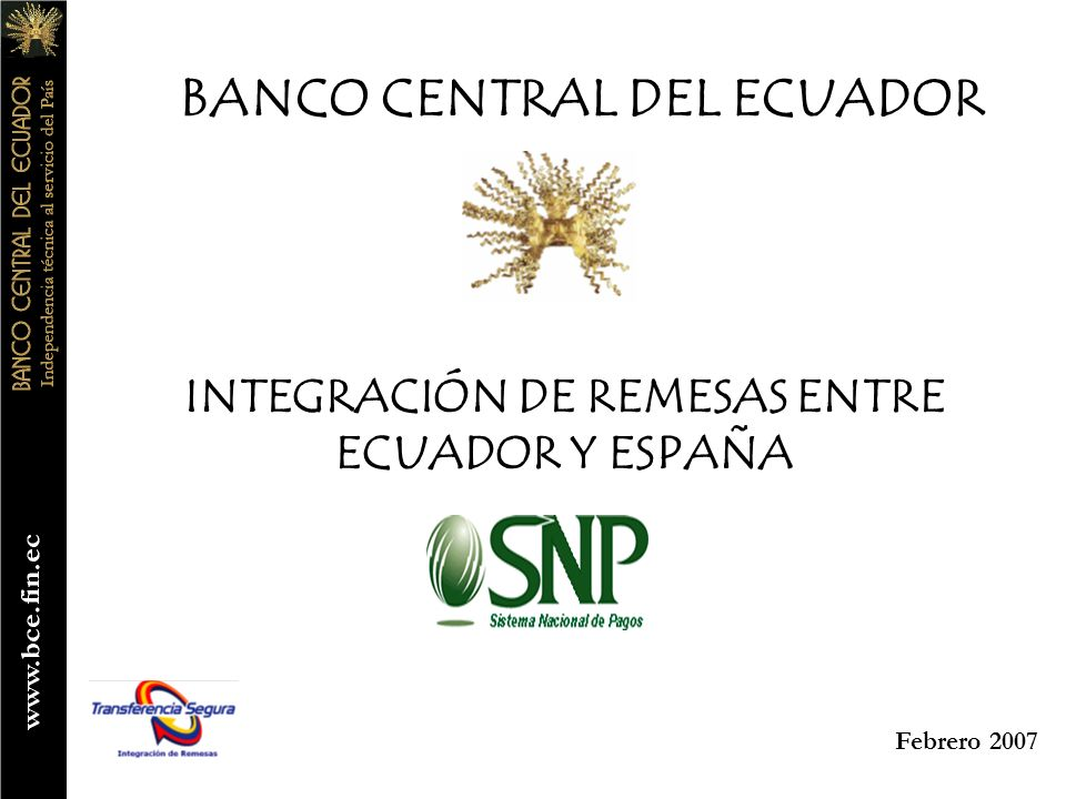 INTEGRACIÓN DE REMESAS ENTRE ECUADOR Y ESPAÑA