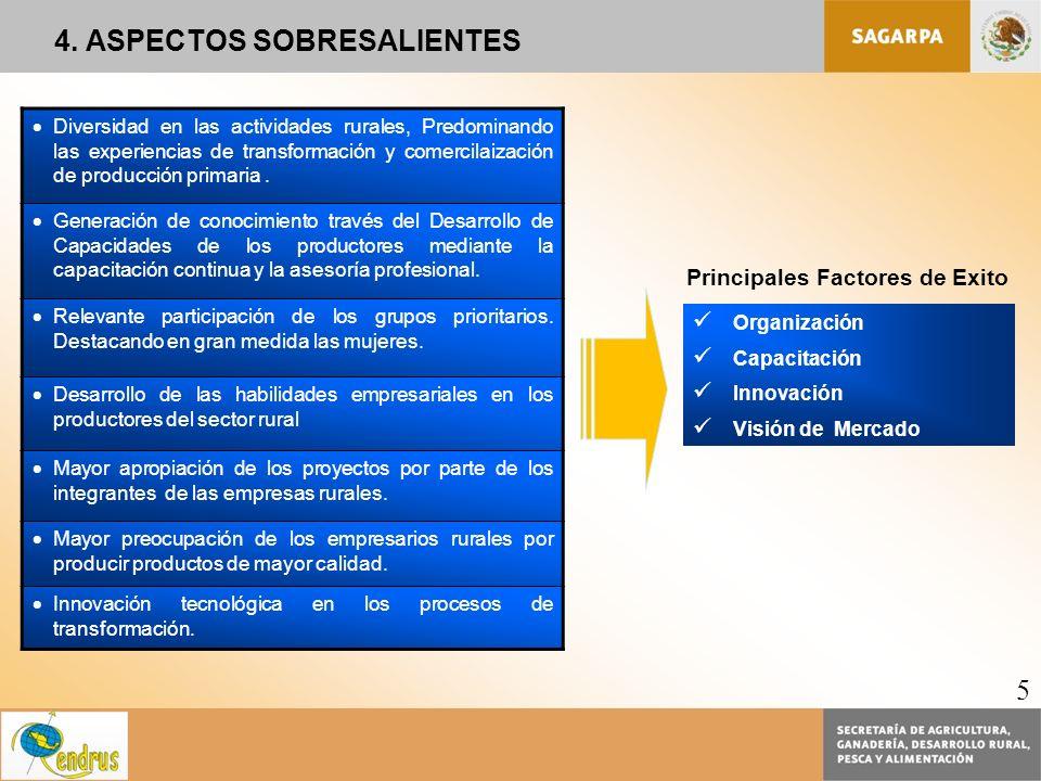 4. ASPECTOS SOBRESALIENTES