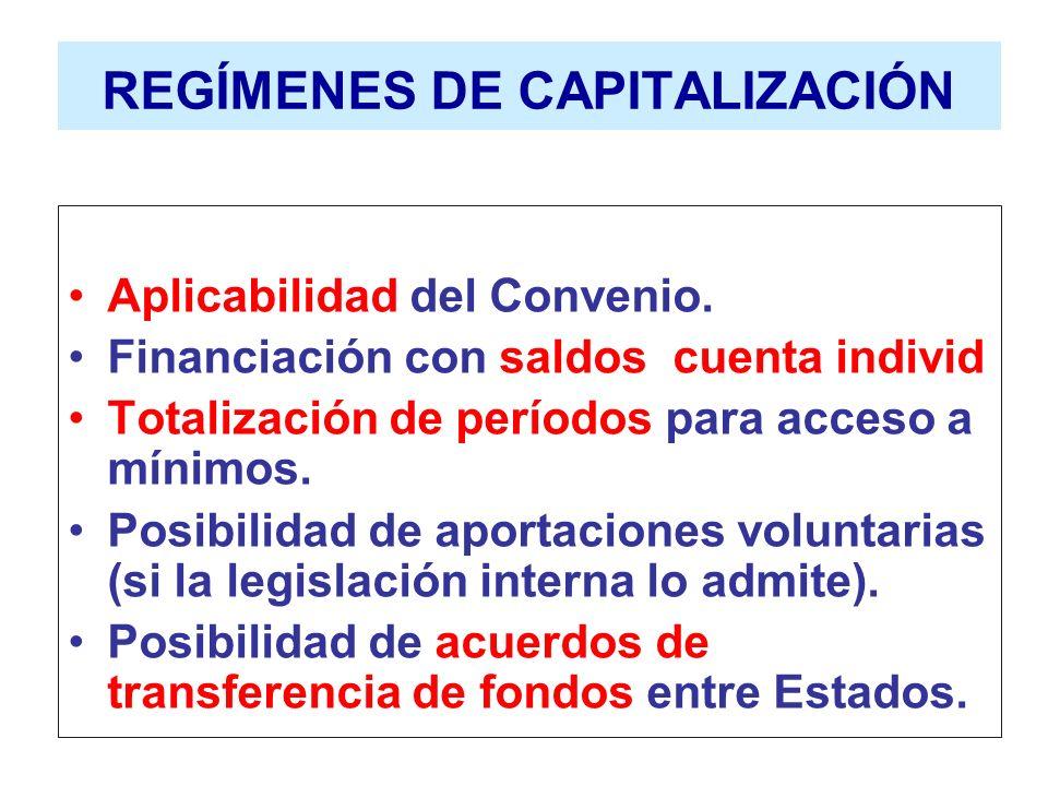 REGÍMENES DE CAPITALIZACIÓN