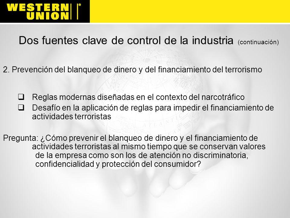 Dos fuentes clave de control de la industria (continuación)