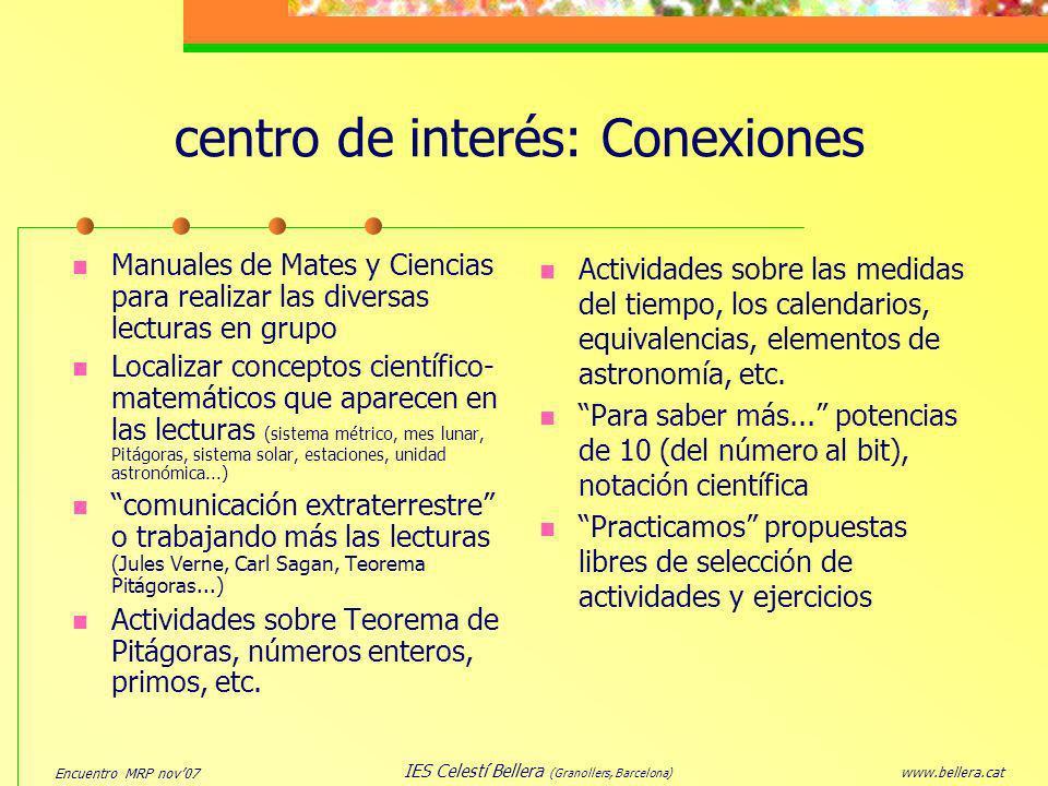 centro de interés: Conexiones