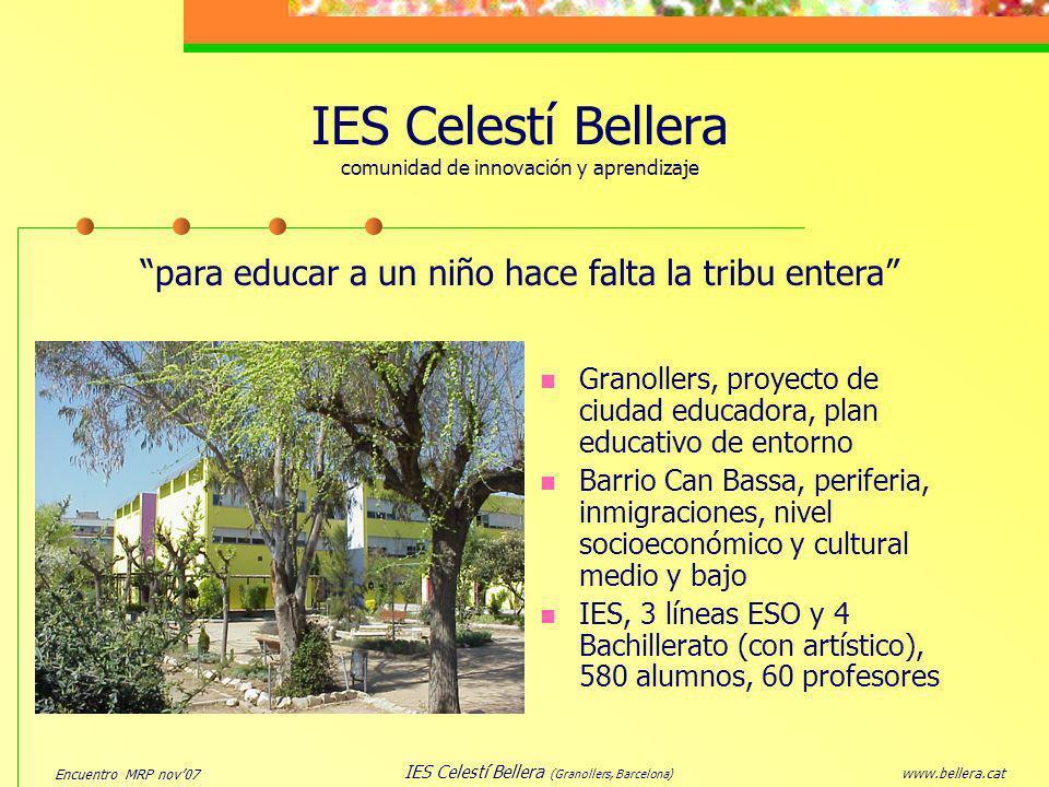 IES Celestí Bellera comunidad de innovación y aprendizaje