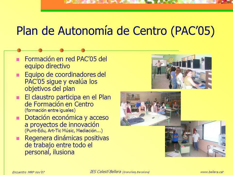Plan de Autonomía de Centro (PAC'05)