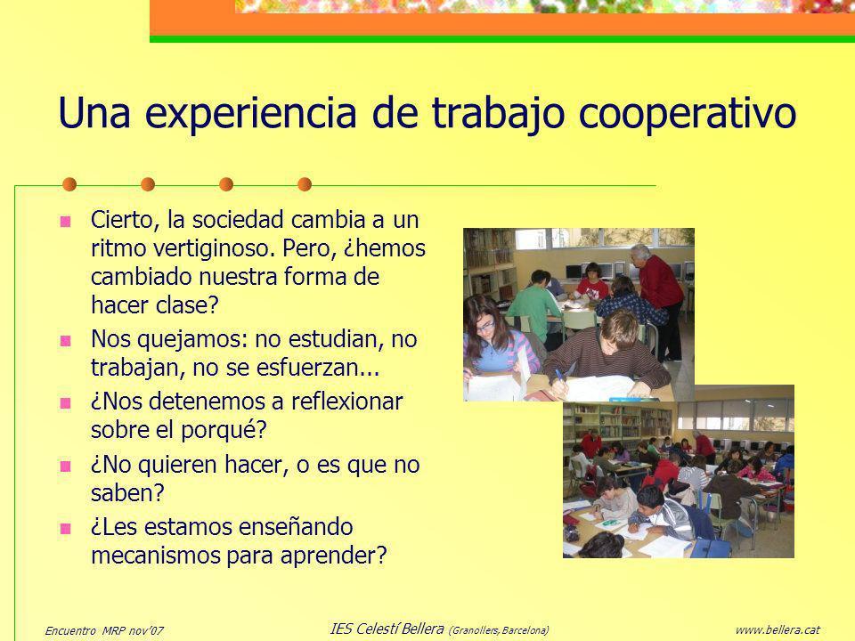 Una experiencia de trabajo cooperativo