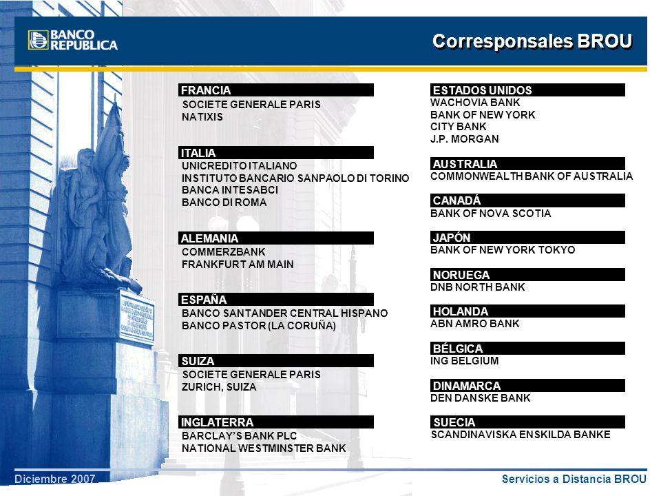 Corresponsales BROU FRANCIA ESTADOS UNIDOS ITALIA AUSTRALIA CANADÁ