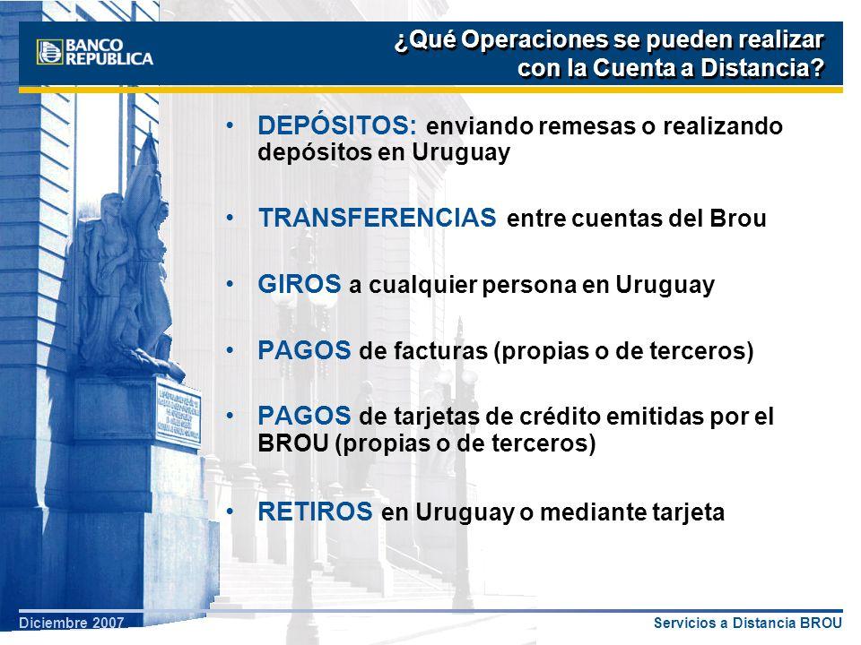 DEPÓSITOS: enviando remesas o realizando depósitos en Uruguay