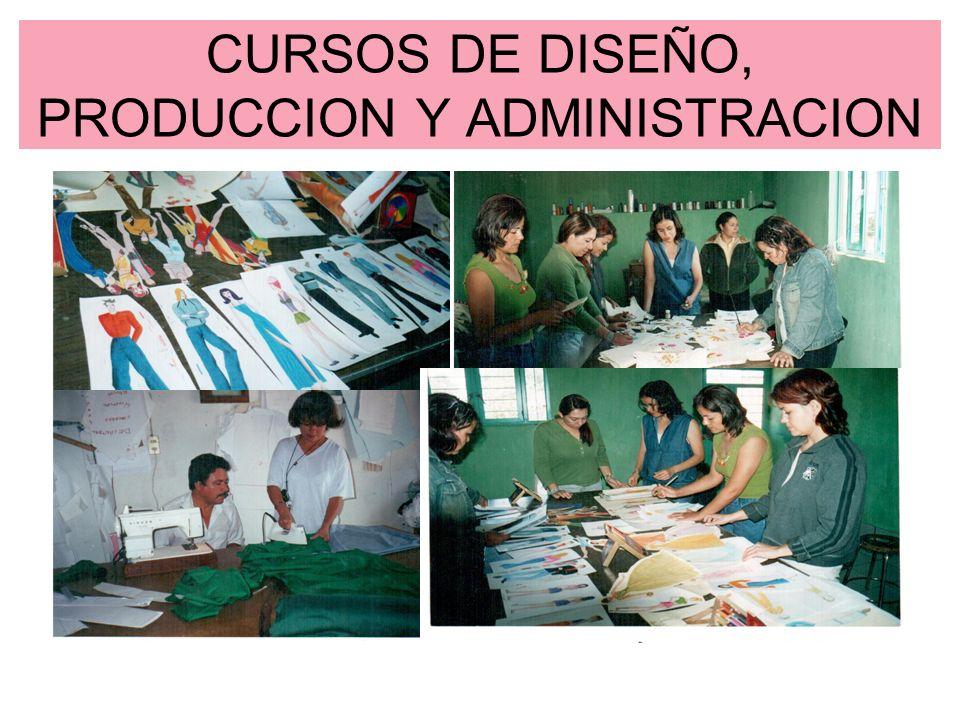 CURSOS DE DISEÑO, PRODUCCION Y ADMINISTRACION