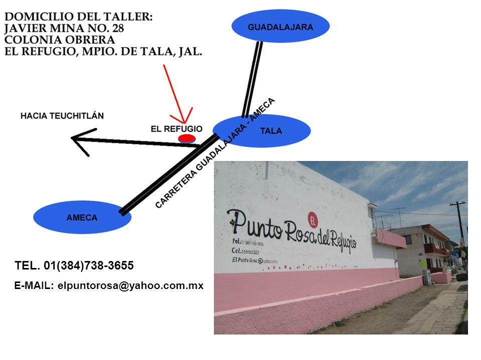 TEL. 01(384)738-3655 E-MAIL: elpuntorosa@yahoo.com.mx