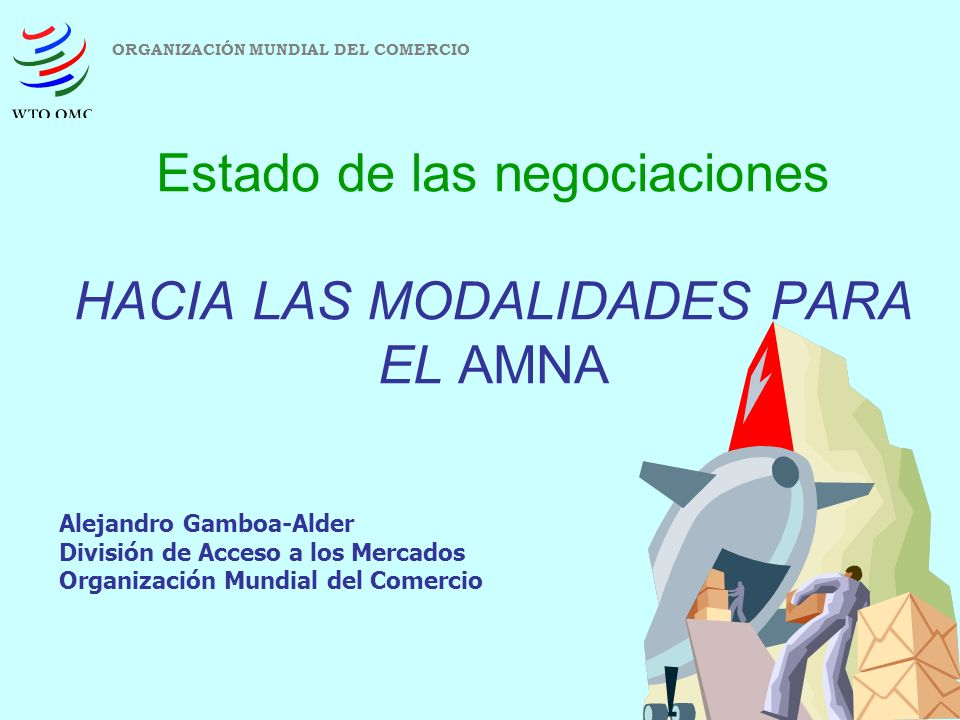 Estado de las negociaciones HACIA LAS MODALIDADES PARA EL AMNA