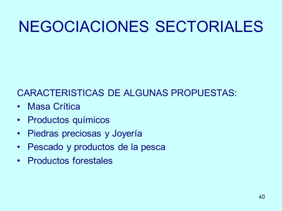 NEGOCIACIONES SECTORIALES