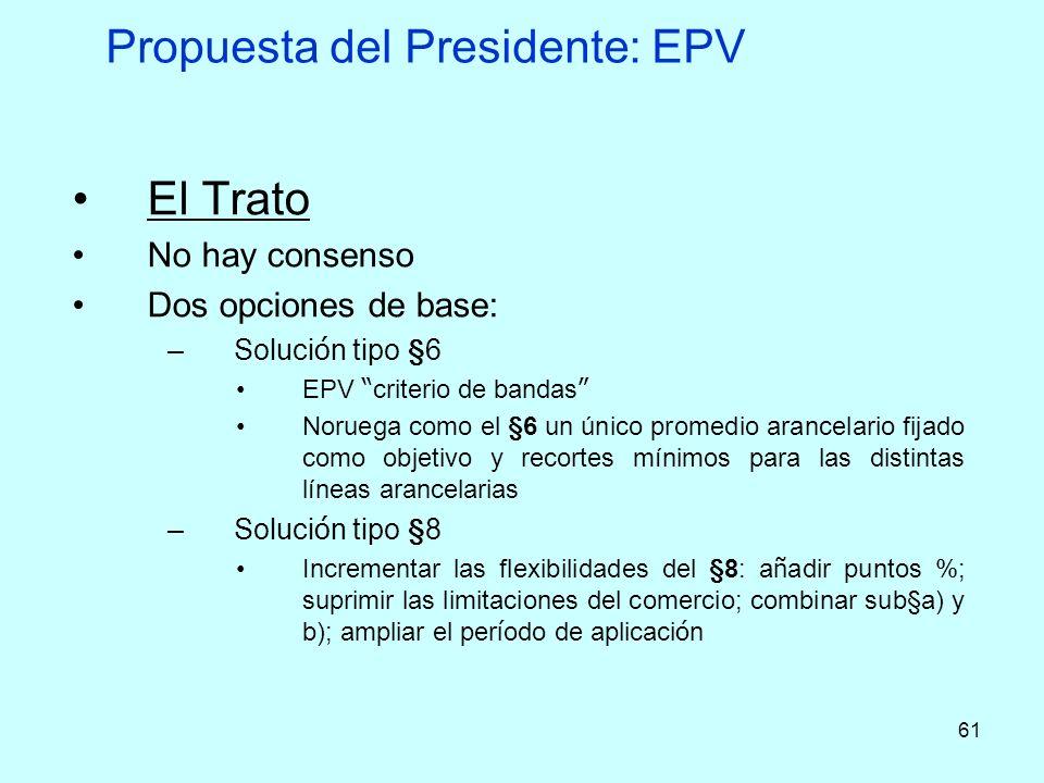 Propuesta del Presidente: EPV