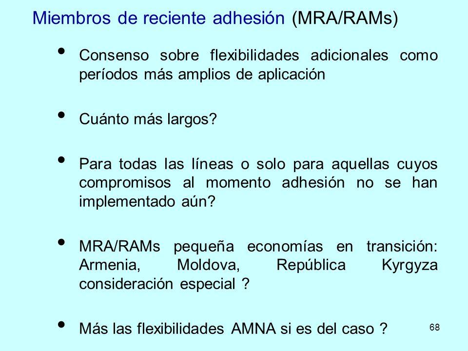 Miembros de reciente adhesión (MRA/RAMs)