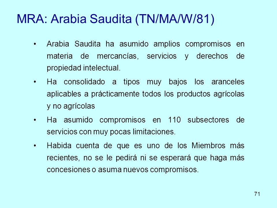 MRA: Arabia Saudita (TN/MA/W/81)