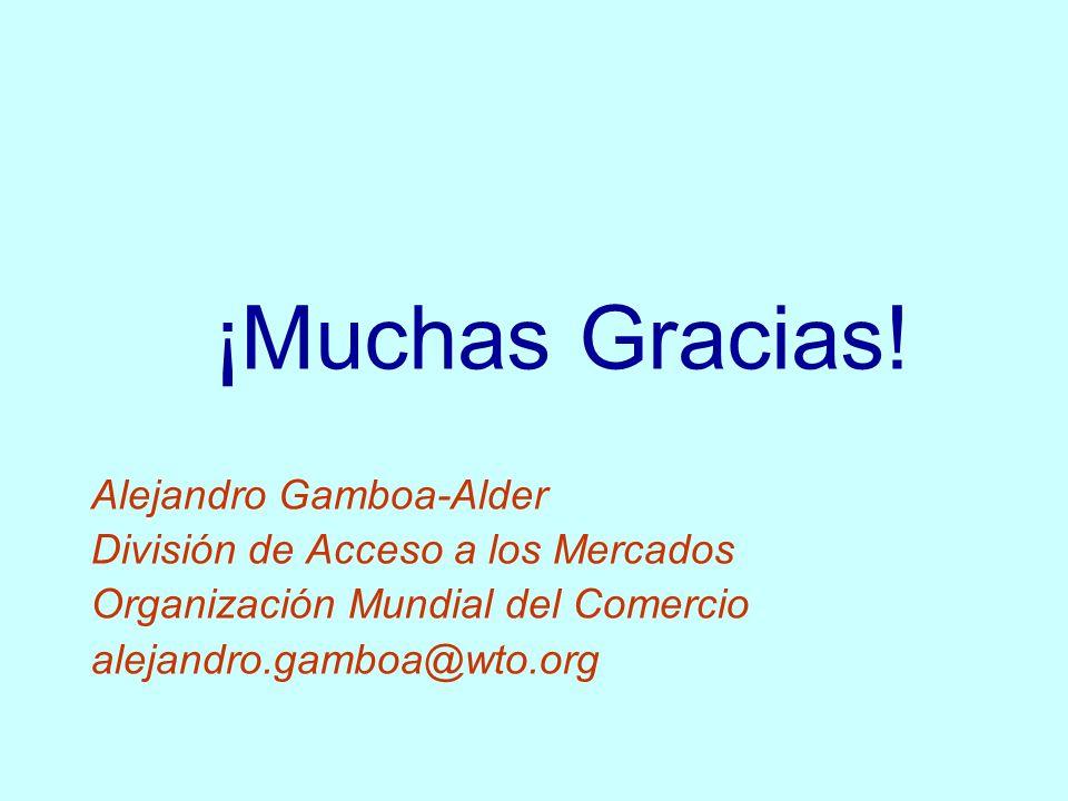 ¡Muchas Gracias! Alejandro Gamboa-Alder