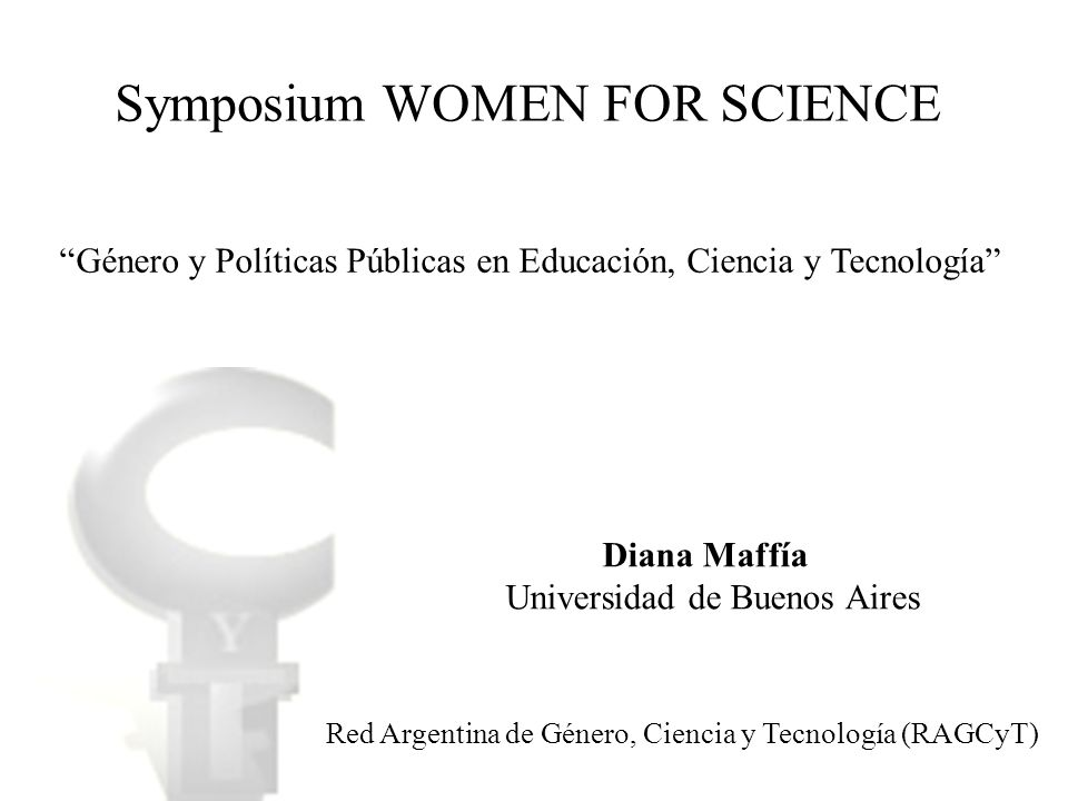 Symposium WOMEN FOR SCIENCE