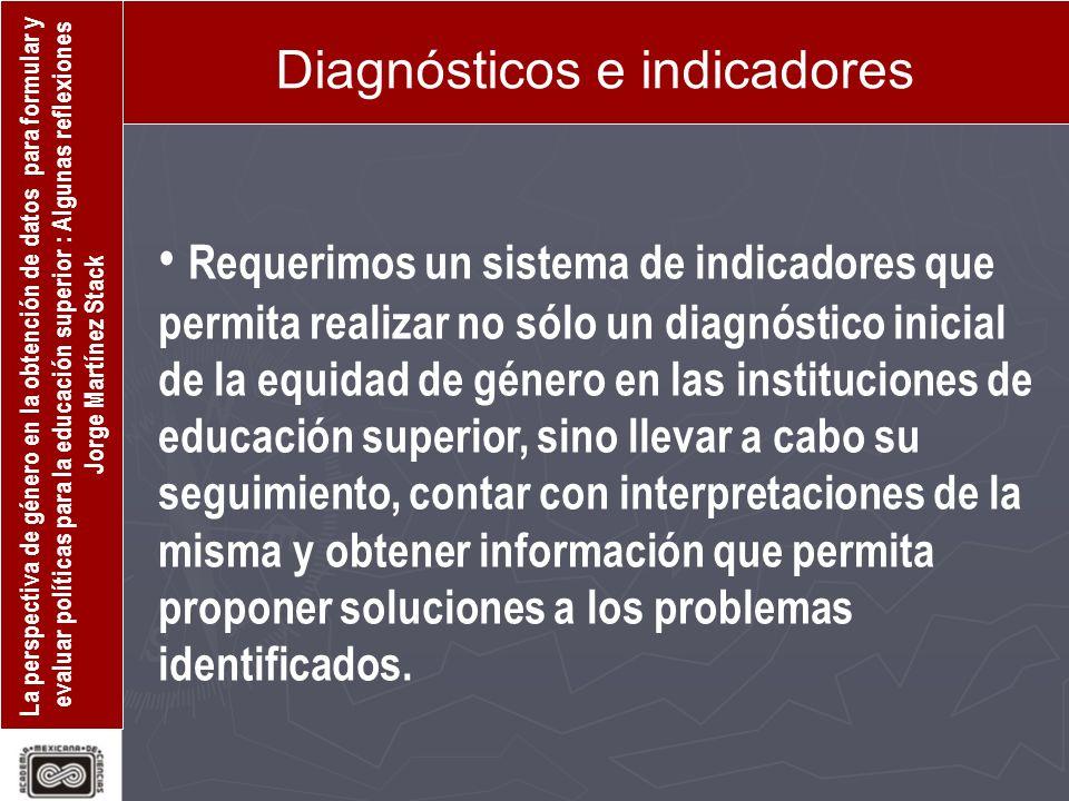 Diagnósticos e indicadores