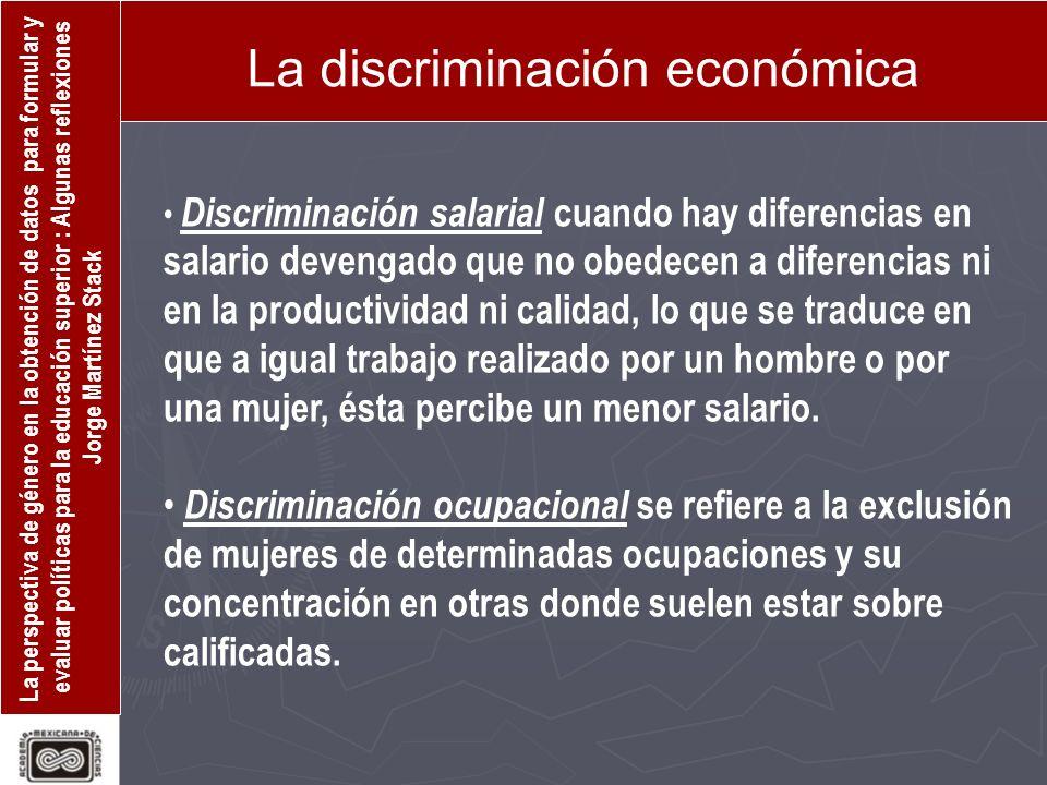 La discriminación económica