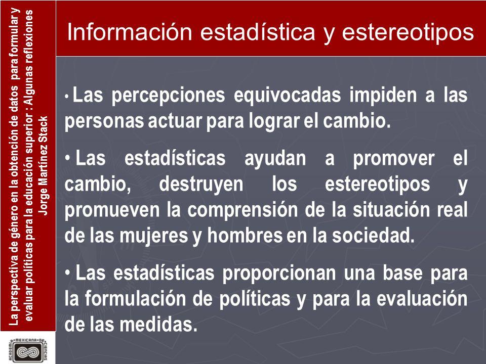 Información estadística y estereotipos