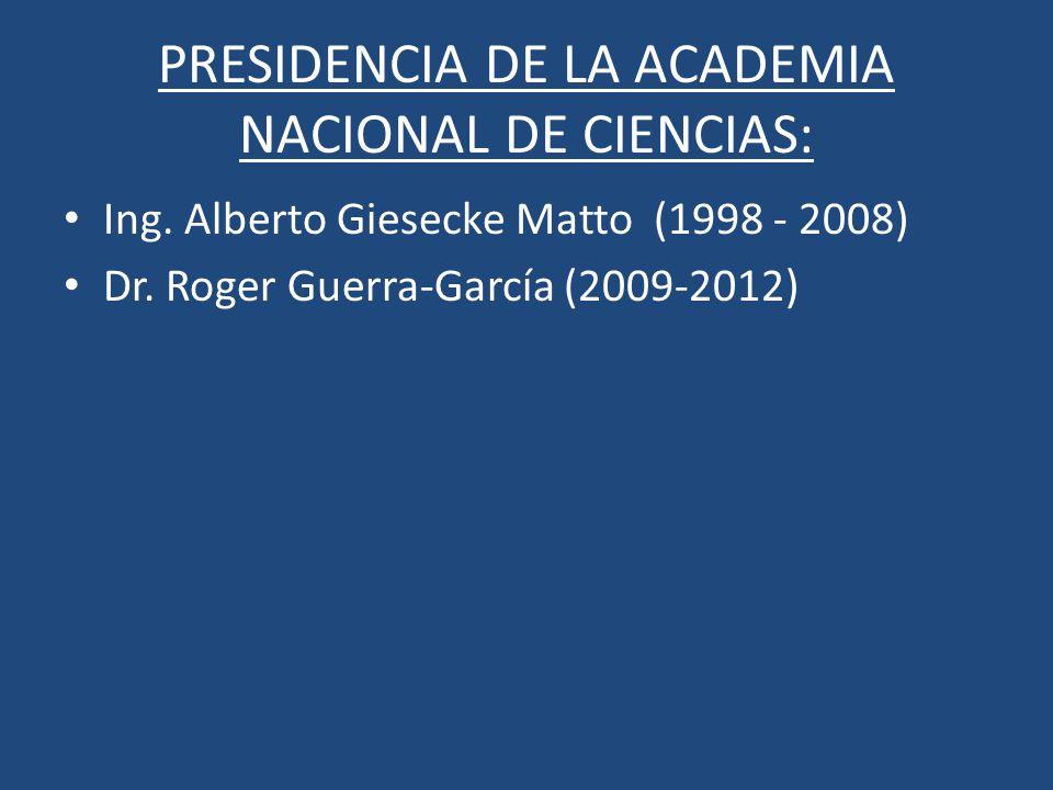 PRESIDENCIA DE LA ACADEMIA NACIONAL DE CIENCIAS: