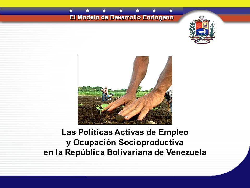 Las Políticas Activas de Empleo y Ocupación Socioproductiva