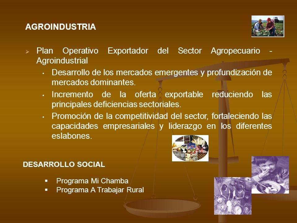 Plan Operativo Exportador del Sector Agropecuario - Agroindustrial