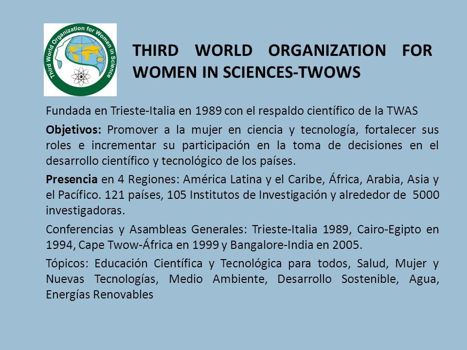 THIRD WORLD ORGANIZATION FOR WOMEN IN SCIENCES-TWOWS