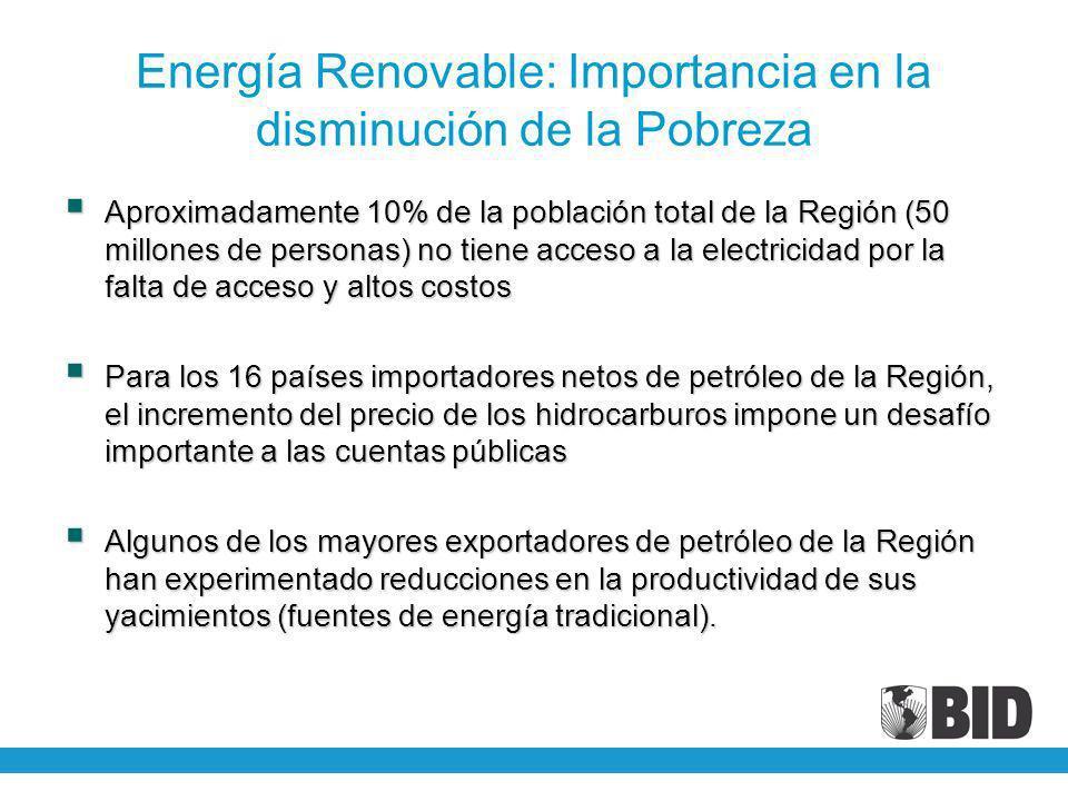 Energía Renovable: Importancia en la disminución de la Pobreza