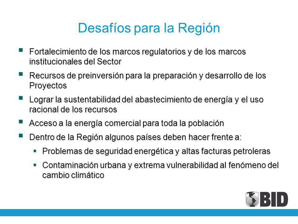 Desafíos para la Región