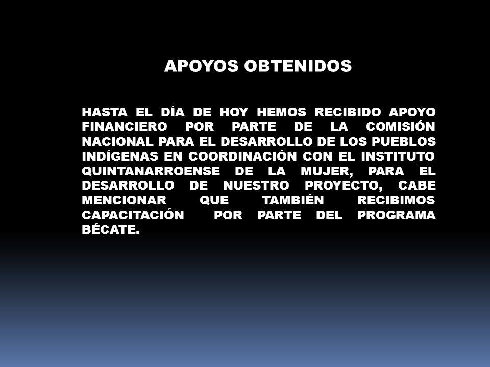 APOYOS OBTENIDOS