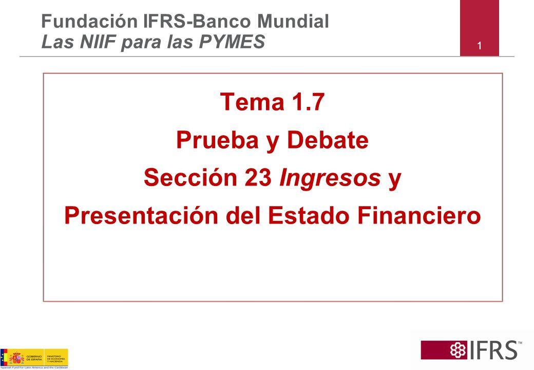 Fundación IFRS-Banco Mundial Las NIIF para las PYMES