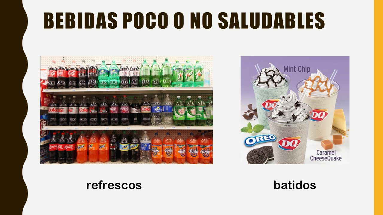 Bebidas poco o no saludables